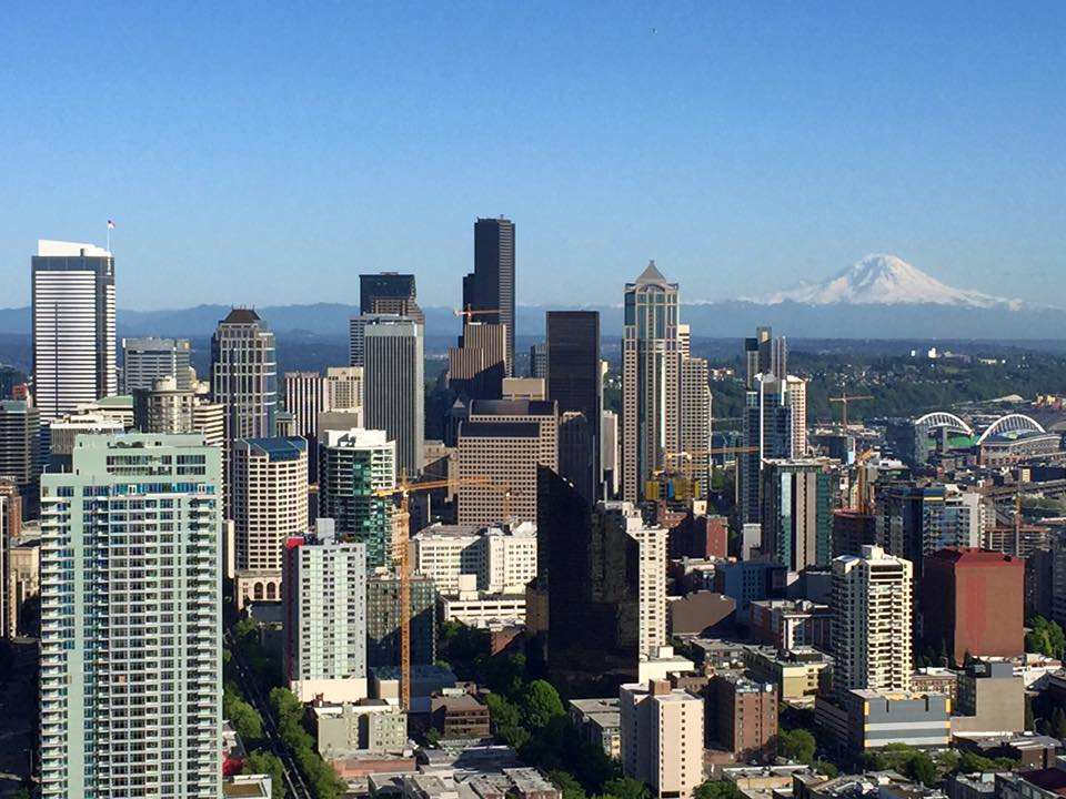 Seattle et Mont Rainier depuis le Space Needle