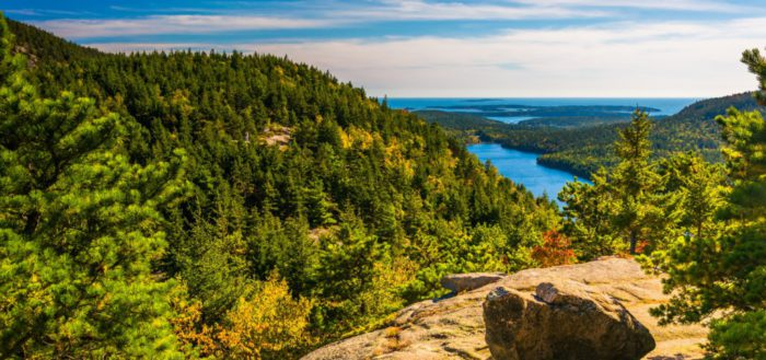 Vue depuis North Bubble, in Acadia National Park, Maine