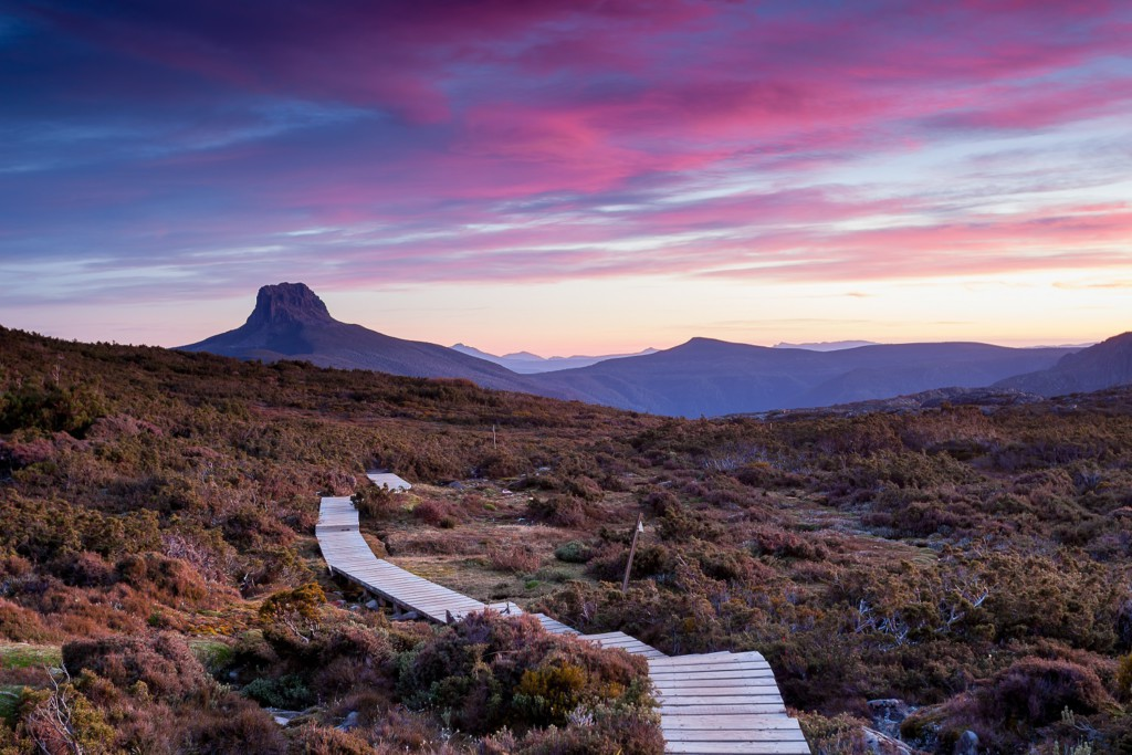 The Overland Track, Lac Saint-Clair, Parc National de Cradle Mountain-Lake Saint Clair, Tasmanie, Australie